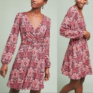 NWT Anthropologie Paisley Belted Dress SZ-XS